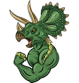 Cartoon of strong triceratops character vector image