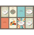 set of brochures in vintage style vector image vector image
