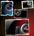 retro photo frames vector image