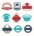Retro vintage labels vector image