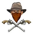 Bandit wit a Guns vector image