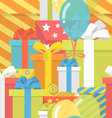 Birthday Pattern with Gifts vector image