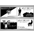 business card abstract creative set 4 vector image