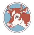 cow emblem vector image
