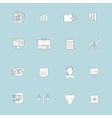 Finance exchange icons flat line vector image