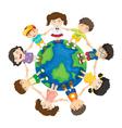 Kids around the world vector image