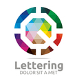 lettering q rainbow alphabet design vector image
