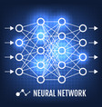 neural network machine learning concept vector image