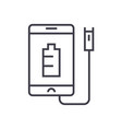 phone charging linear icon sign symbol vector image