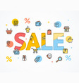 sale concept icon flat and paper art vector image