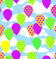 Seamless Pattern with Colorful Balloons on Sky vector image