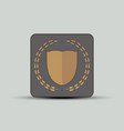 shield and branches emblem vector image
