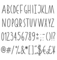 Simple hand drawn font vector image