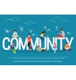 Community concept vector image
