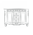 Classic sideboard furniture vector image
