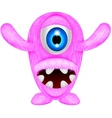 scary pink monster vector image vector image