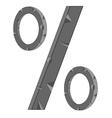 Sign percent vector image