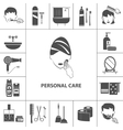 Personal care products icons composition poster vector image