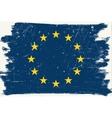 Grunge European flag vector image