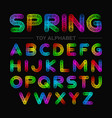 colorful spring toy alphabet vector image