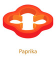 paprika icon isometric 3d style vector image