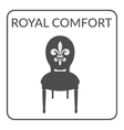 royal comfort sign vector image