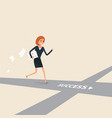 way of success or success businesswoman concept vector image
