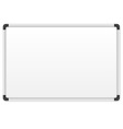 White marker board vector image
