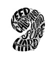 keep calm and windsurf hard custom hand lettering vector image