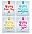 Happy Father Day Mother day Wedding Birth vector image