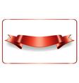 Red ribbon satin blank banner vector image