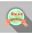 Advertising label flat design grunge vector image