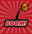 boom pop art comic design vector image