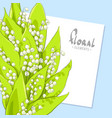 bright bouquet of lilies vector image