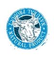 cow logo design template milk or beef icon vector image