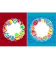 Decorative easter frames vector image