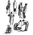 figures of people vector image
