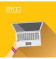 flat design concept of BYOD vector image