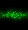 green abstract technological background with vector image