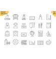 linear icon set 5 - school education vector image