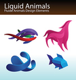 liquid animals vector image