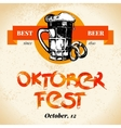 Oktoberfest vintage background Typographic poster vector image