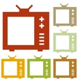 TV sign vector image