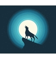Wolf Howling in the Moonlight vector image