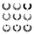 wreaths set of different styles vector image