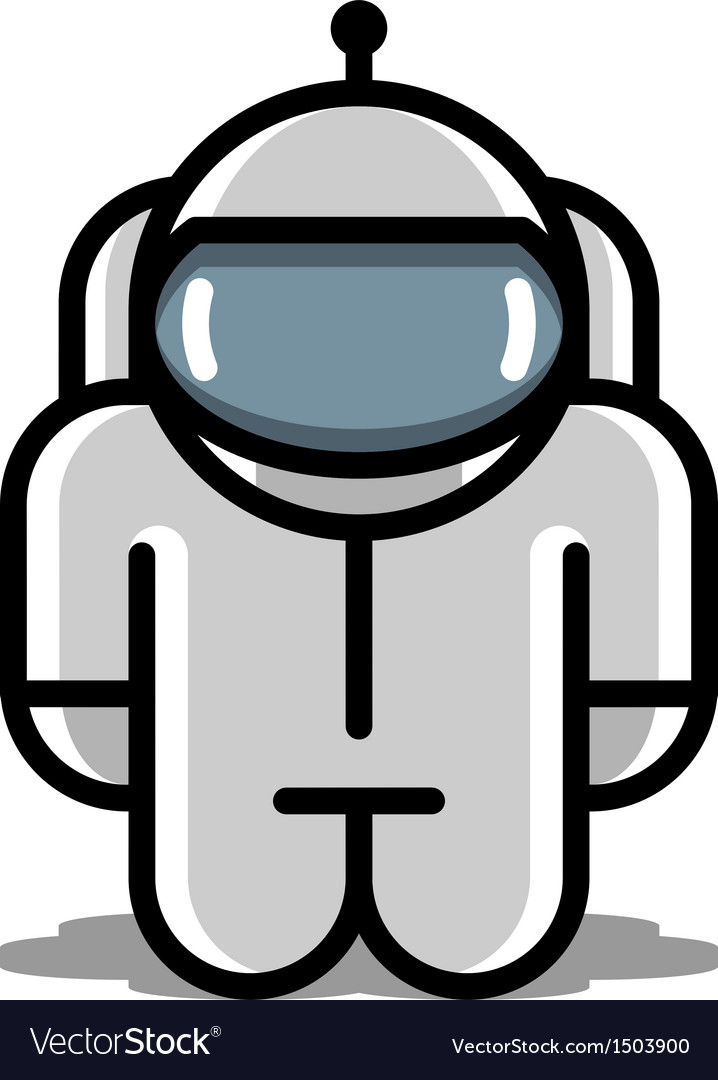 Astronaut robot toy icons vector