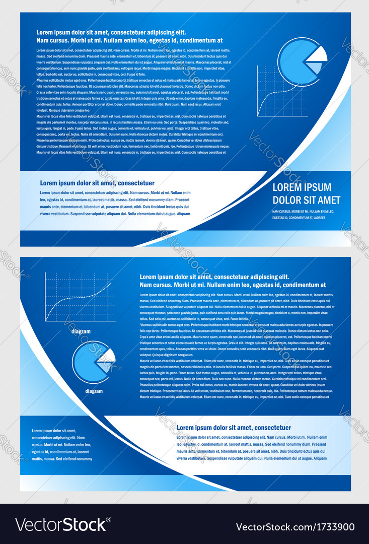 Brochure folder info diagram design blue vector