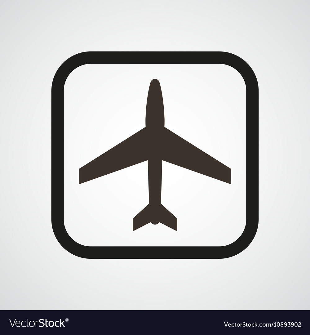 Aircraft icon flat simple vector