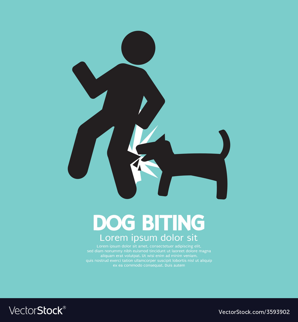 Dog biting symbol vector