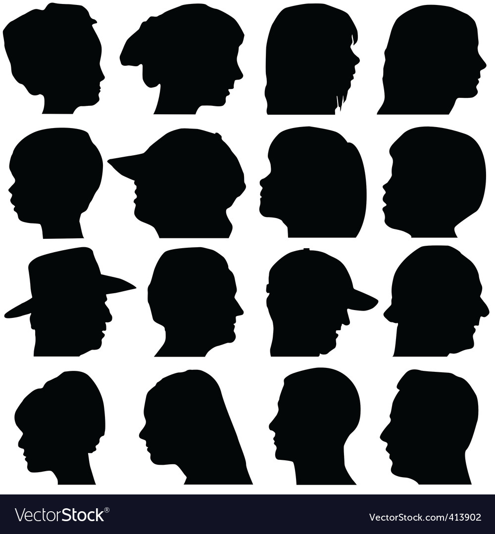 Face portrait vector